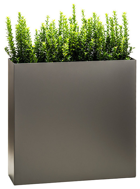 Partition Tower Planter Pewter Standard Modern