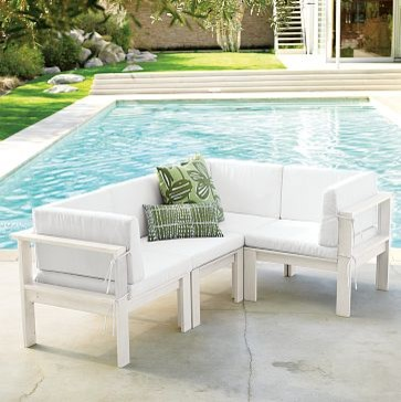 Wood-Slat Sectional | west elm - contemporary - patio furniture ...