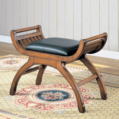 Samuel Wood Stool traditional-bedroom-benches