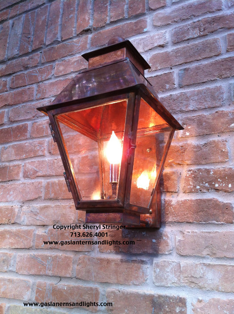 Electric Lanterns by Garage - Traditional - Outdoor Wall Lights And Sconces - houston - by ...
