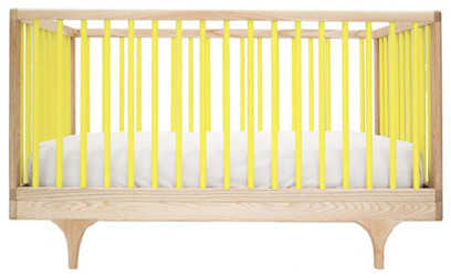 Kalon Studios Caravan Crib Yellow modern cribs