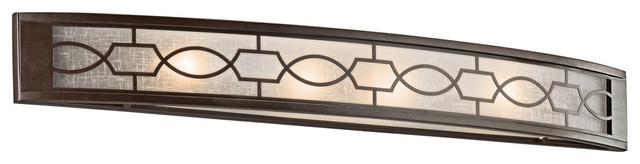 Kichler Lighting 45353MIZ Punctuation 4 Light Bathroom Vanity Lights in Mission midcentury-bathroom-lighting-and-vanity-lighting