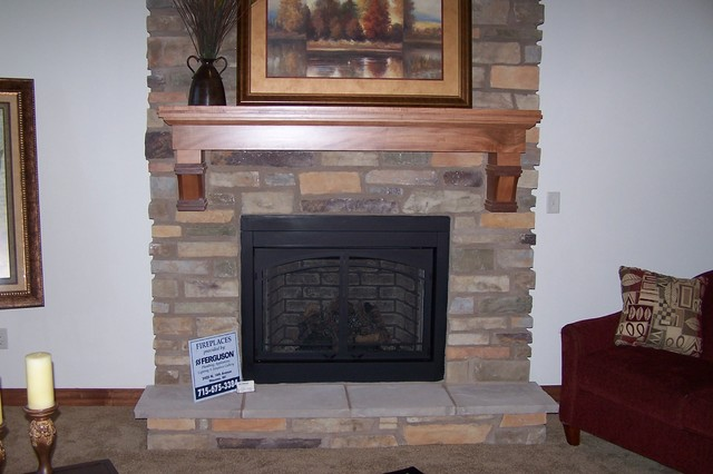 custom maple mantel for parade home traditional indoor