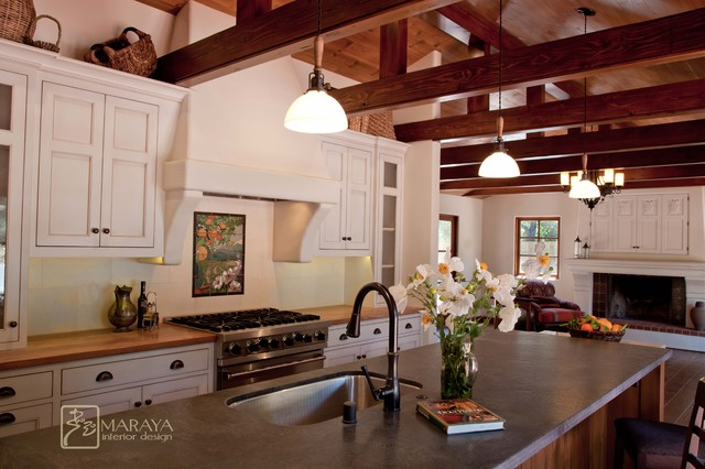 Spanish Revival Home Mediterranean Kitchen Santa Barbara By Maraya Interior Design