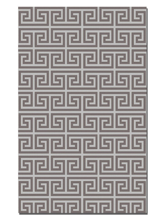 "Portfolio - Classic Greek key design created in an ""all over"" format on a wool flat weave construction.  Offered in different color options and a variety of sizes."
