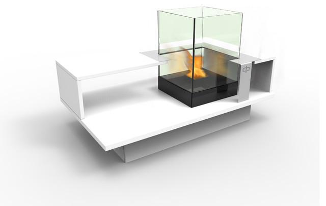 Level compact indoor bio ethanol coffee table fireburner - Table basse bio ethanol ...