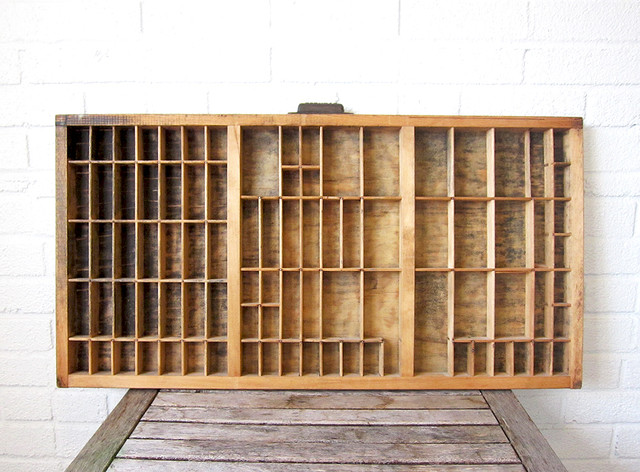Vintage Printers Drawer - Traditional - Display And Wall Shelves - boston - by La Roux Vintage