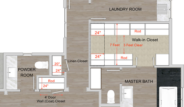 How To Get Better Closets Contemporary Floor Plan