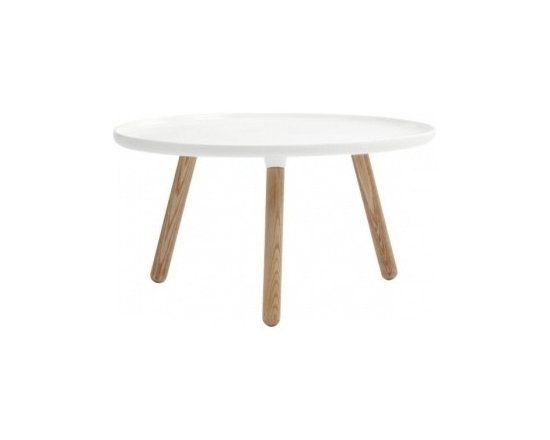 Tablo table large, glossy white -