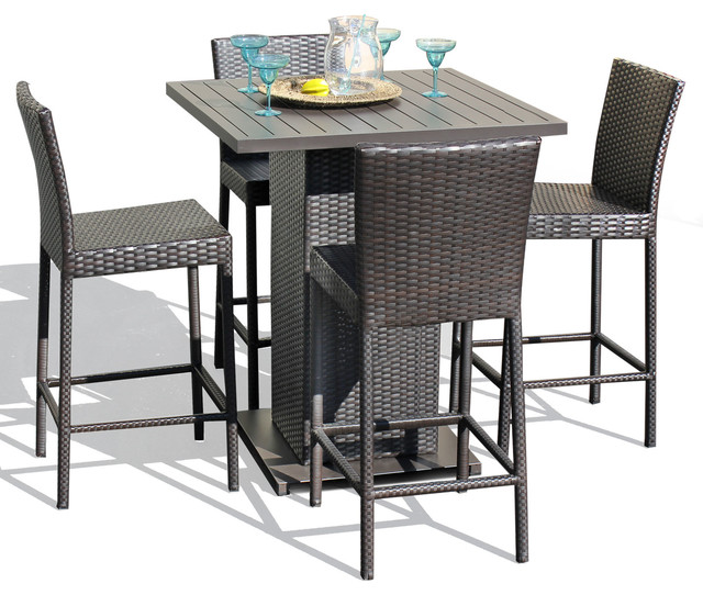 Patio Cushions Tropical Print picture on Venus Pub Table Set With Barstools 5 Piece Outdoor Wicker Patio Furniture tropical outdoor pub and bistro sets with Patio Cushions Tropical Print, sofa f5c6d1476b13708f7392649052499999