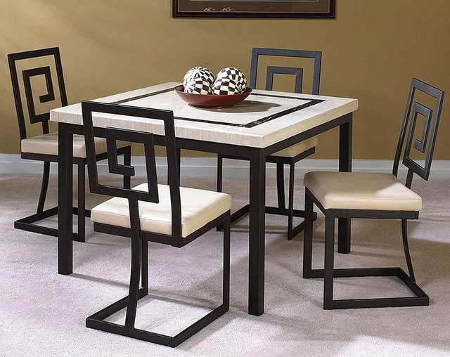 Maze 5 piece dinette set modern dining room columbus for American furniture dinette sets