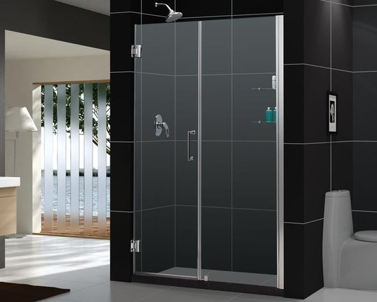 "DreamLine Unidoor 49"" - 50"" Frameless Shower Door With 24"" Stationary Panel SHDR - DreamLine™ UNIDOOR is the only door you will ever need to complete an unforgettable design of your shower project. The UNIDOOR shower door collection has an opening door range from 23"" up to 61"", and can be reversed for either left-wall or right-wall installation. The 3/8"" heavy glass and the frameless design supported by solid brass self-closing hinges delivers the look of an expensive custom glass door at a fraction of the high custom price"