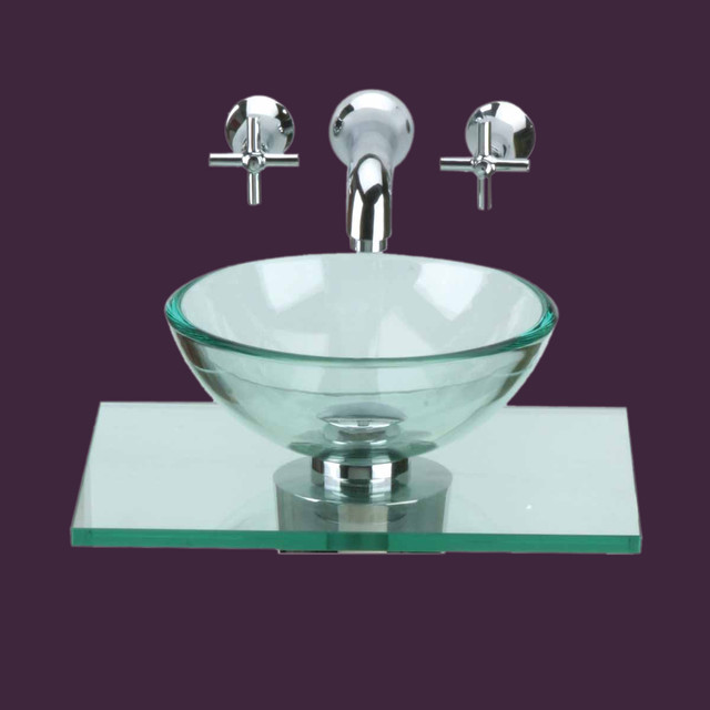Glass Sinks Clear Counter Mini Vessel Glass Sink 10891   Modern .