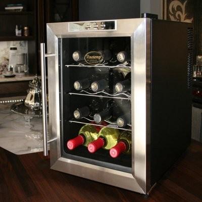 Vinotemp 12TEDS 12 Bottle Wine Cooler modern-wine-and-beer-refrigeration