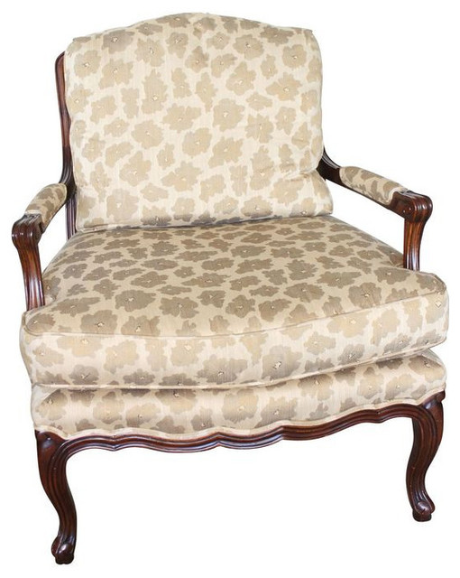 Baker 424 Antique Walnut Chairs - A Pair - $6,200 Est. Retail - $2,900 on Chairi transitional-armchairs-and-accent-chairs