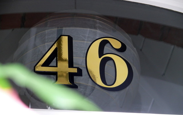 Gold House Numbers traditional front doors