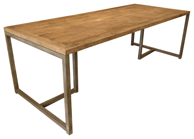 Rami Industrial Loft Aged Oak Large Dining Table