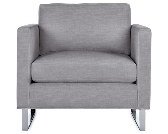Goodland Armchair in Fabric, Stainless Legs -
