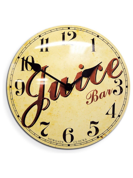 Indian River Orange Grove Wall Clock - Barn Light Electric - Based on the advertising clocks once found in the cafes and milk bars of the 1950s, and designed to look vintage and aged. Our nostalgic grove wall clock will take you back in time to a simpler life. This tin wall clock is sure to be a conversational piece for your kitchen!