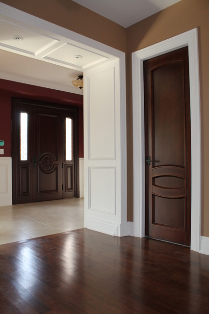 Interior doors project contemporary interior doors for Interior trim and door color ideas