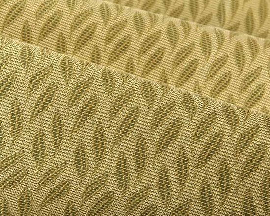 Botanic Floral Upholstery Fabric in New Leaf - Botanic in New Leaf is a green floral upholstery fabric with a hearty textured hand that creates a welcoming atmosphere in interior designs. The woven leaf pattern has a slight metallic sheen that creates a captivating look. American made from a blend of 55% polyester and 45% cotton with an acrylic backing. This fabric passes Wyzenbeek 50,000 double rubs, Calif Bulletin #117, UFAC, NFPA 260 Class I, and ASTM E-84 adhered Class I. Cleaning code: WS. This fabric meets or exceeds ACT standards for upholstery use. Repeat: approx 3.2″ v x 1.5″ h; Width: 54″