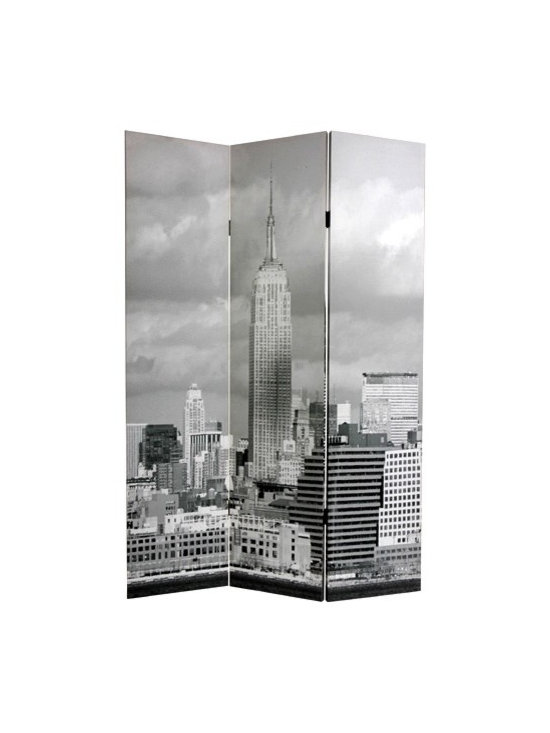 Double Sided New York City Scenes 3-Panel Room Divider -