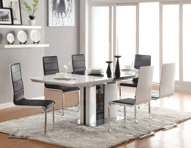 granite dining table tjihome - White Gloss Kitchen Table