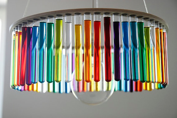 Maria SC Single Test Tubes Lamp by Pani Jurek  chandeliers