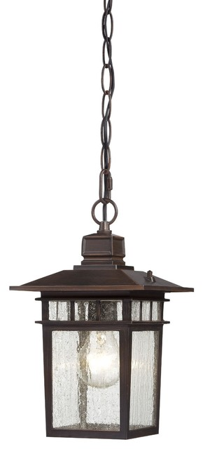 Nuvo Cove Neck 1-light Rustic Bronze 12-inch Hanging Fixture contemporary-ceiling-lighting