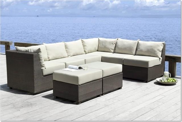 Zenna Outdoor Sectional Sofa Set Modern Outdoor Lounge
