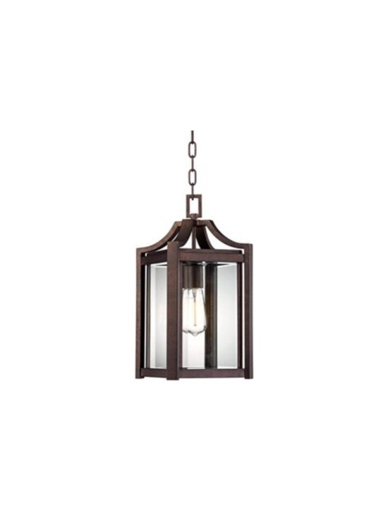 Franklin Iron Works Iron 17-Inch-H Outdoor Hanging Light -