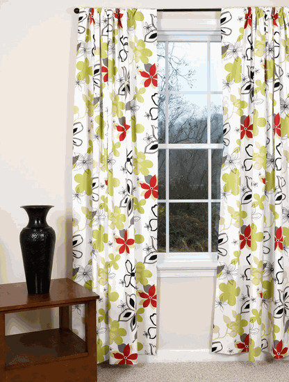 Regis Floral Curtains contemporary curtains