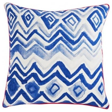 HP Chevron Blue Pillow contemporary-pillows