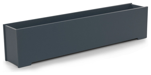 Loll designs charcoal gray rectangular container modern for Loll planters