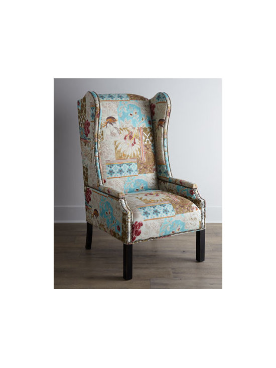 Horchow - Amiyah Host Chair - Casual, comfortable, cottage-style dining starts with this host chair. We're especially fond of the interplay of color—soft, neutral upholstery and darker hued wood. A double row of nailhead trim adds a bit of polish. Handcrafted of furniture-grad...