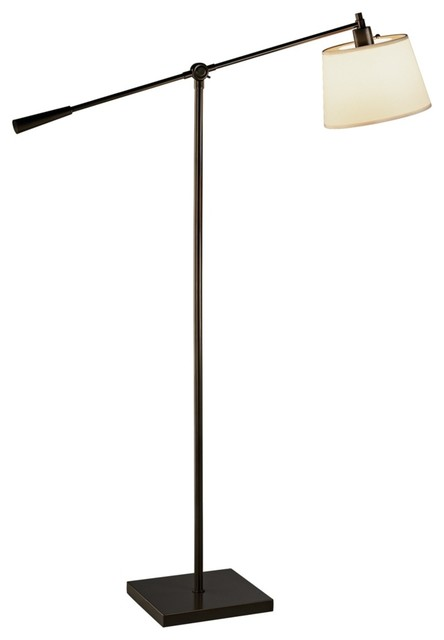 Contemporary Robert Abbey Real Simple Bronze Boom Floor Lamp ...