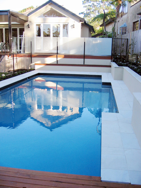Pools & Spas featuring stone by Sareen Stone modern-pool