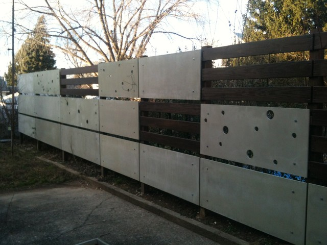 New jersey house back yard fence part of a makeover - Modern house fence design ...