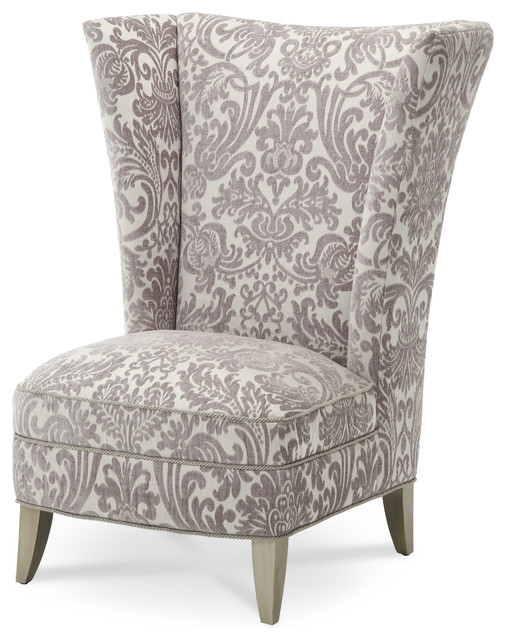 Overture high back chair transitional living room - High back wing chairs for living room ...