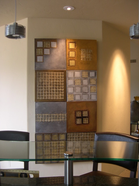 Mix and Match Metallic Modules contemporary-artwork