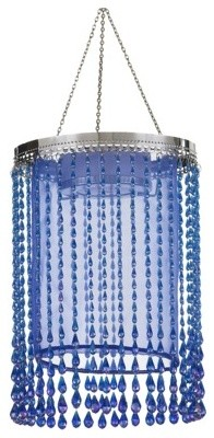 Anywhere Shimmer Chandelier Raindrop, Blue contemporary-outdoor-flush-mount-ceiling-lighting