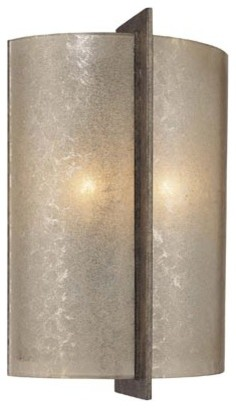 Clarte Patina Iron ADA Two-Light Wall Sconce contemporary-wall-lighting