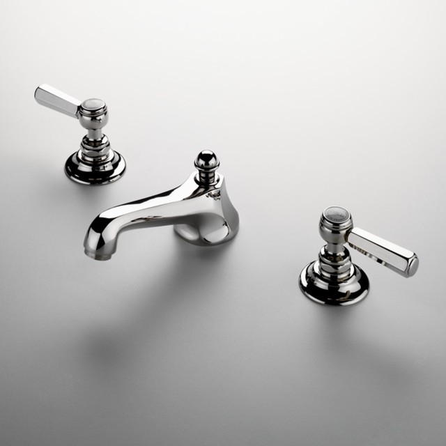 Astoria Three Hole Deck Mounted Lavatory Faucet Traditional Bathroom Fauc
