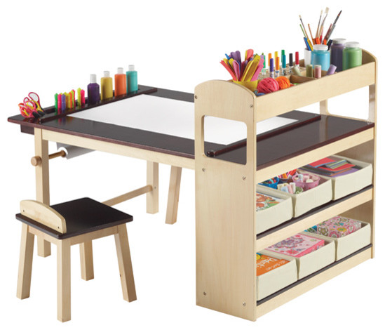 Deluxe Art Center modern kids tables and chairs