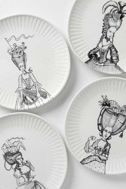 Ladies-In-Waiting Dinner Plate contemporary dinnerware