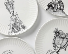 Ladies-In-Waiting Dinner Plate eclectic-dinner-plates