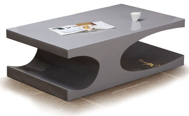 Modern glossy gray coffee table Naples modern-coffee-tables