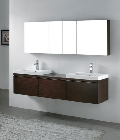 Floating Sink Vanity : Floating Bathroom Vanities contemporary-bathroom-vanity-units-and-sink ...