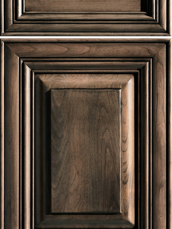 """Dura Supreme Cabinetry - Dura Supreme Cabinetry Wilmington Cabinet Door Style - Dura Supreme Cabinetry """"Wilmington"""" cabinet door style in Cherry shown with Dura Supreme's """"Morel"""" with """"Charcoal"""" Glaze finish."""