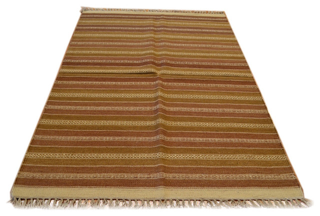 Tribal and Geometric Striped Durie Kilim Hand Woven Sh4336 traditional-area-rugs